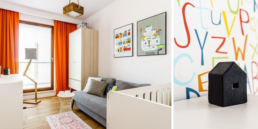 Kolorowe literki w pokoju dla niemowlaka pracownia Dragon Art