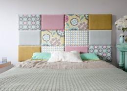 Kolorowe panele ścienne przy łóżku Made for Bed