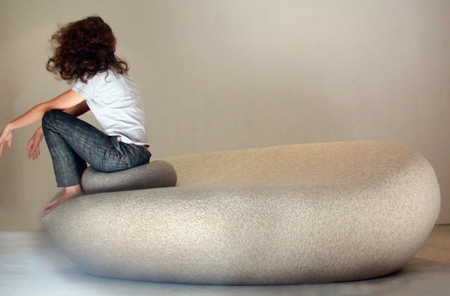 duże, miękkie siedzisko - żywy kamień / Smarin