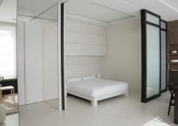 Oryginalna sypialnia w salonie aranzacja Studio.o.