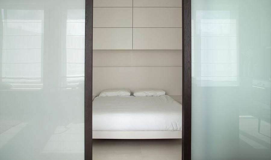 oryginalna sypialnia w salonie architektura wnętrza