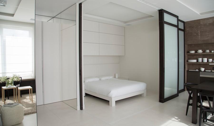 Oryginalna sypialnia w salonie - Architektura, wnętrza, technologia, design - HomeSquare