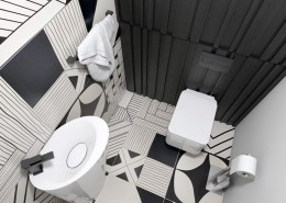 Oryginalna toaleta w czerni i bieli a2 studio