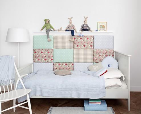 Oryginalne miękkie panele w pokoju dziecięcym Made for Bed