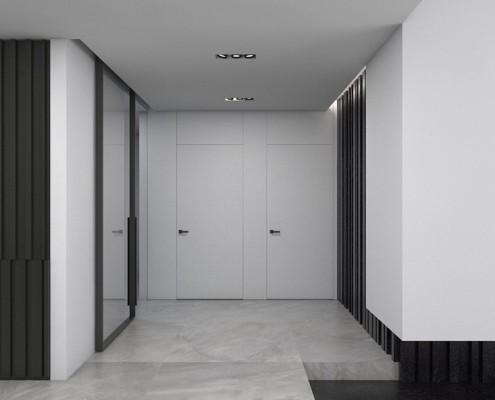 Otwarty przedpokój w nowoczesnym stylu a2 Studio