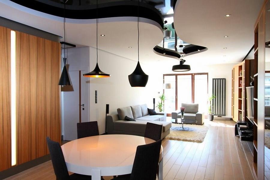Podiweszany sufit w kuchni