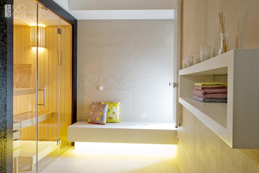 Przeszklona sauna w domu sauna mokra w domowym zaciszu
