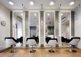 Salon fryzjerski z industrialnym akcentem pracownia Dragon Art