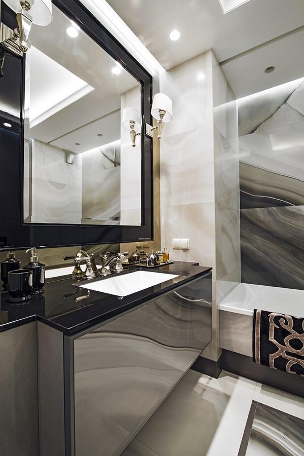 Stylowa łazienka w kamieniu Dominika Rostocka