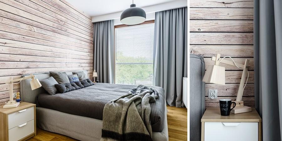 Sypialnia w drewnie pracownia Dragon Art