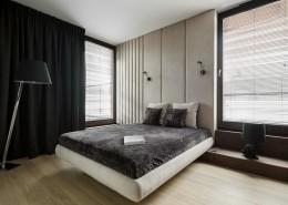 Tapicerowana ściana w sypialni