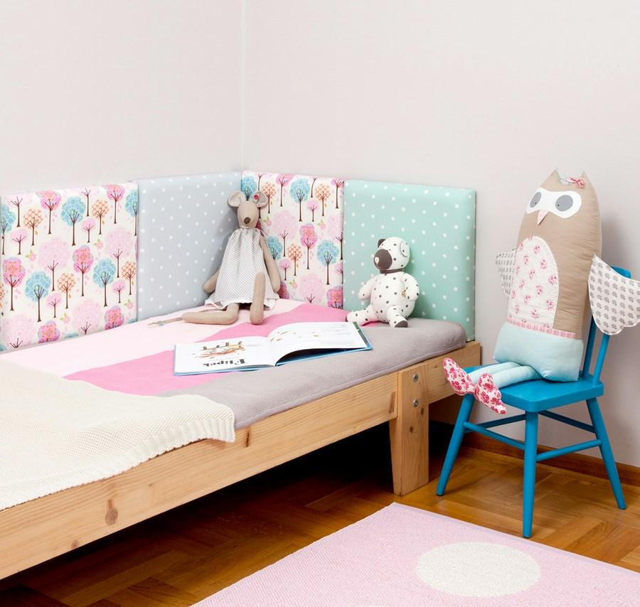 Pi kne wn trza ciana tapicerowana homesquare - Como hacer cabeceros de cama caseros ...