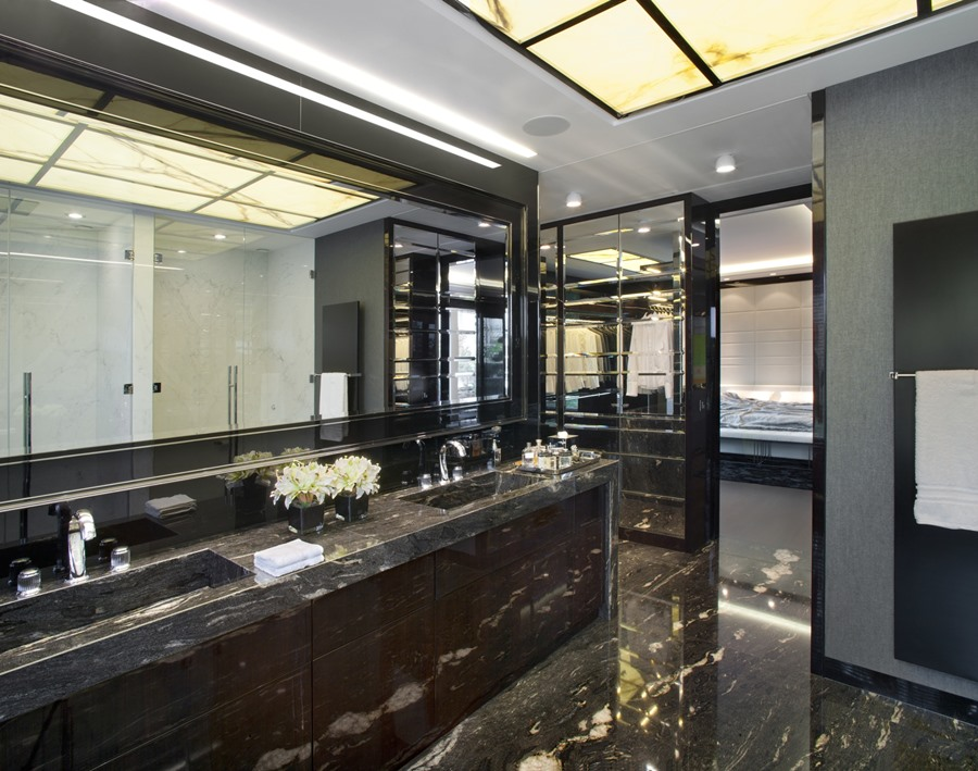 Łazienka w stylu art deco EXITDESIGN - oryginalna łazienka