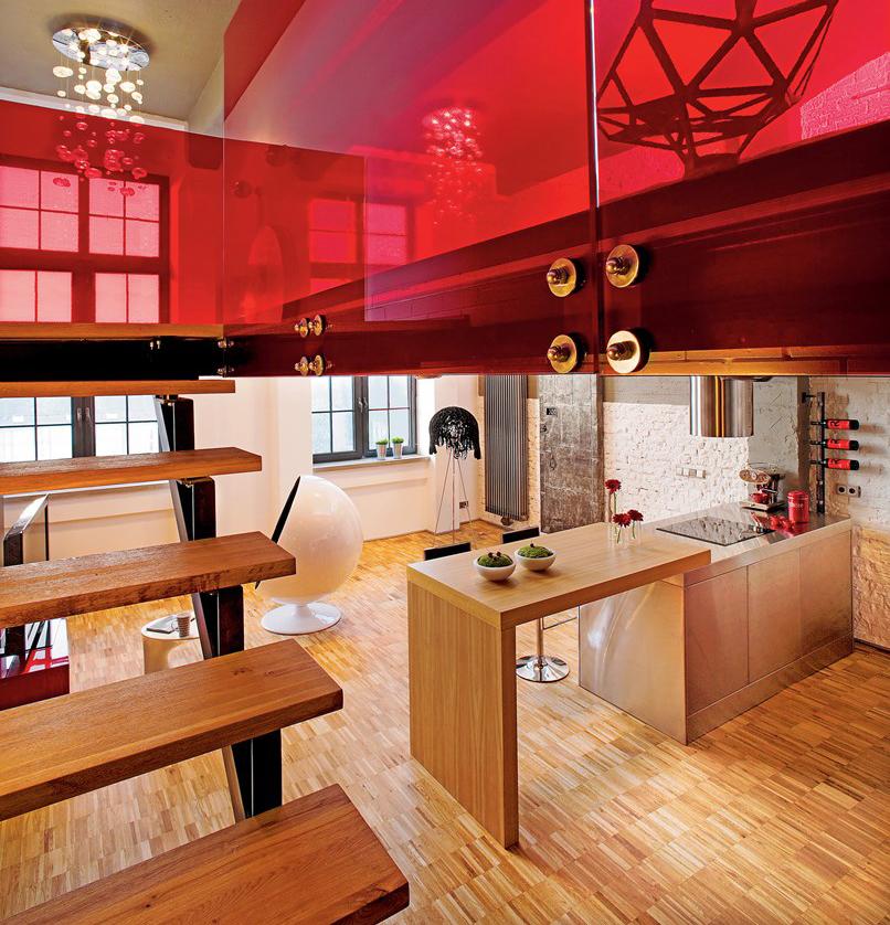 Aneks kuchenny w nowoczesnym lofcie Justyna Smolec