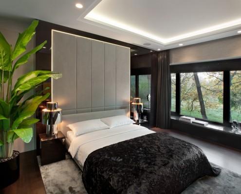 Aranżacja sypialni w kolorach ziemi EXITDESIGN