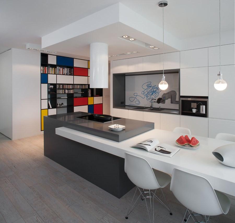 Otwarta kuchnia  sprawdź, jak powiększyć przestrzeń w domu  Architektura, w   -> Kuchnia Pol Otwarta