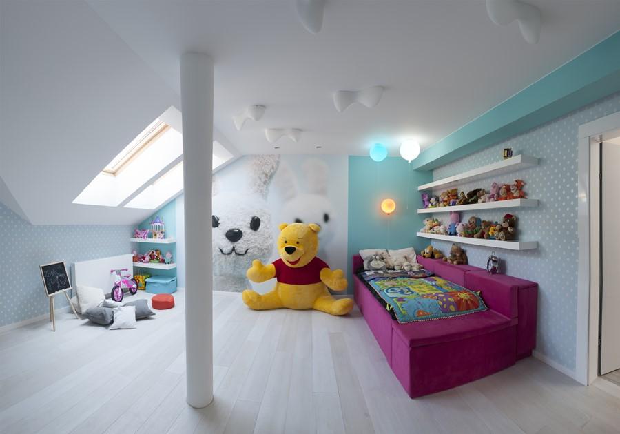Kolorowy pokój dla dziewczynki - pokoje dla dzieci