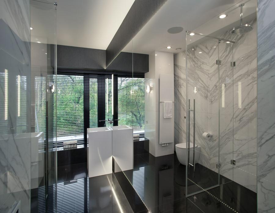 Nowoczesna łazienka z prysznicem EXITDESIGN - oryginalna łazienka
