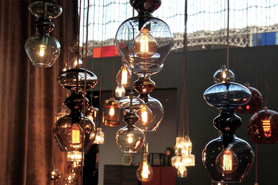 Nowoczesne oświetlenie na targach 100% design London