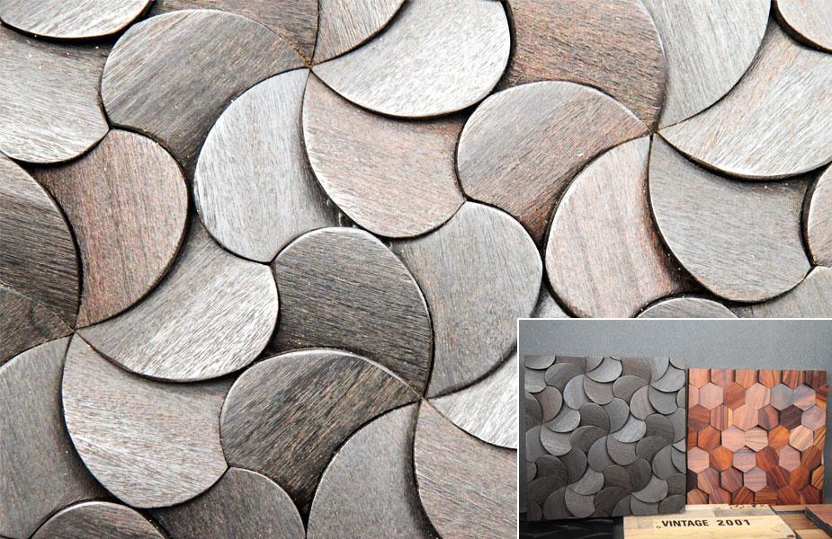 Oryginalne panele z drewna na targach 100 % design London