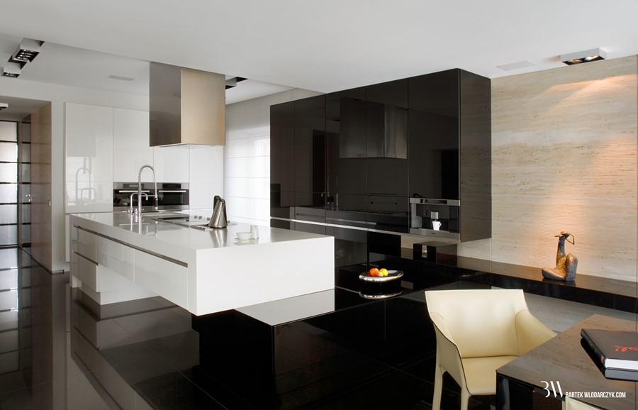 Otwarta kuchnia w nowoczesnym stylu Bartek Włodarczyk
