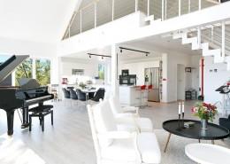 Otwarty salon połączony z kuchnią i jadalnią Procyon