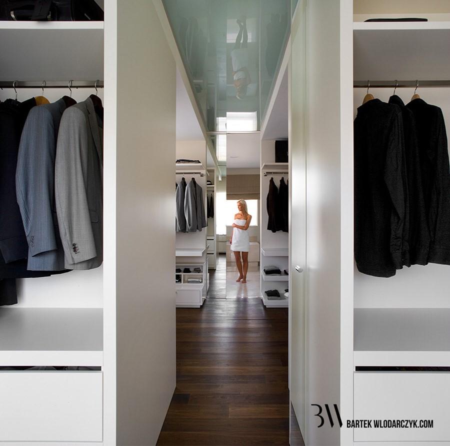 Przestronna sypialnia połączona z garderobą i łazienką - Architektura, wnętrza, technologia ...