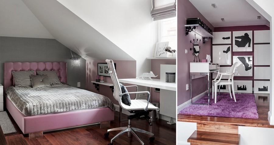 Różowy pokój dla dziewczyny Comdesign