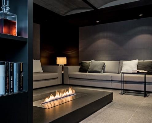Salon gościnny w winną piwniczką Bartek Włodarczyk Architekt projektowanie wnętrz