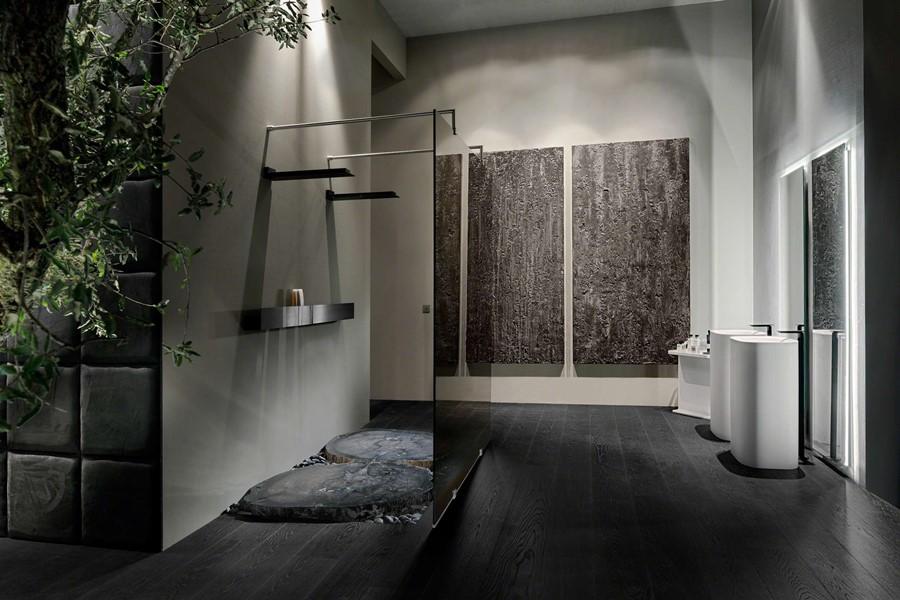 Stylowa łazienka bez płytek Kolenik