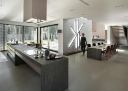 Stylowa kuchnia z jadalnią w minimalistycznej formie EXITDESIGN