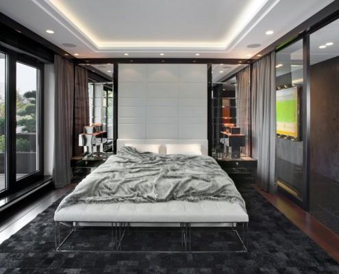 Wystrój nowoczesnej sypialni EXITDESIGN