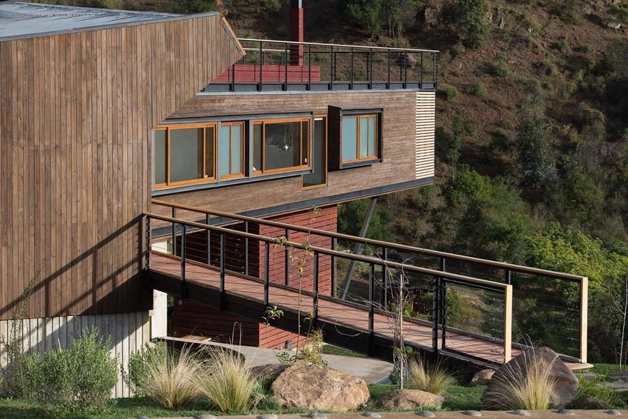 odważny projekt domu w górach, Chile