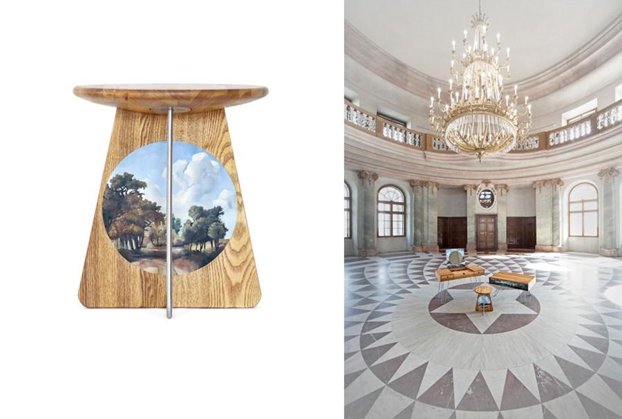 stołek i pozostałe elementy kolekcji NARKi
