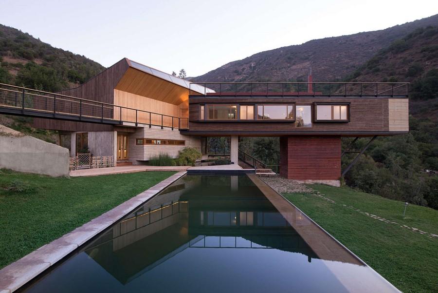 basen przy górskim domu, Chile