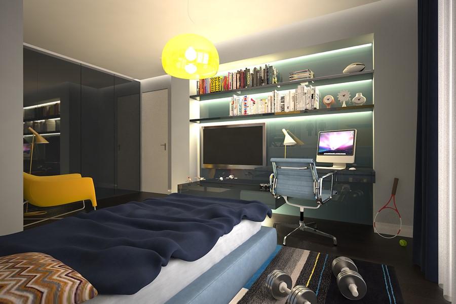 pokój dla chłopaka projekt wnętrz