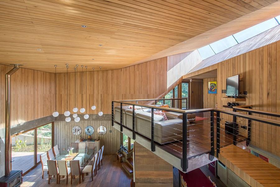 dom w drewnie, część dzienna. Chile