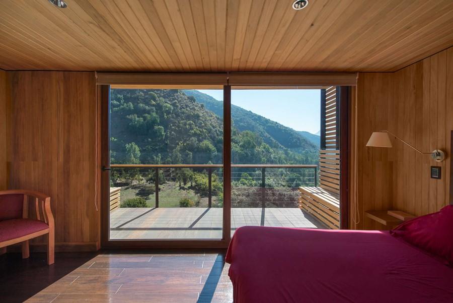 El Maqui House, widok z sypialni