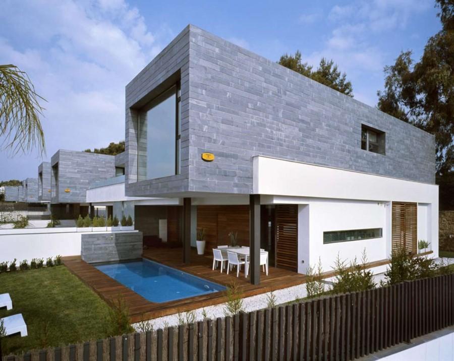 Zabudowa bli niacza monotonii nie oznacza architektura Casas modulares de diseno joaquin torres