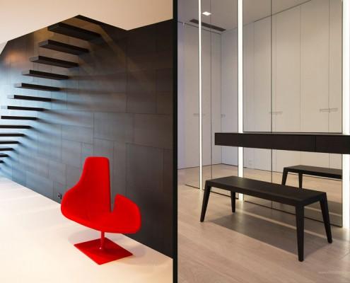 Aranżacja minimalistycznego korytarza Katarzyna Kraszewska