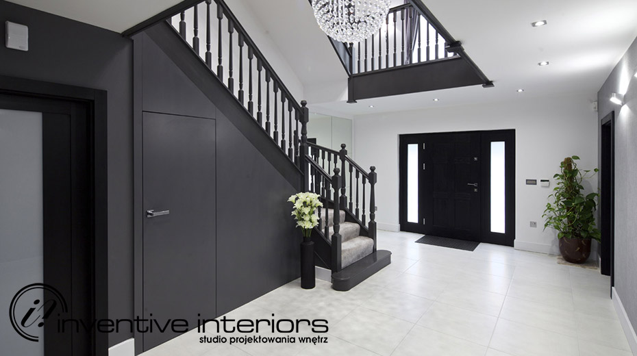 Aranżacja stylowego holu Inventive Interiors