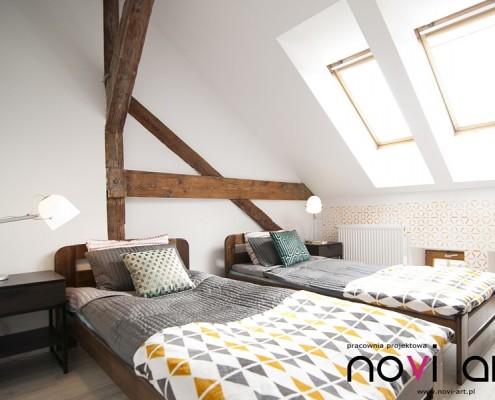Aranżacja sypialni dla gości Pracownia Novi Art