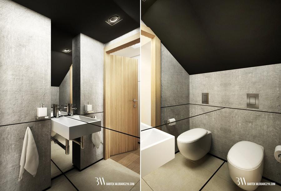 Beton Architektoniczny W Małej łazience Inspiracja