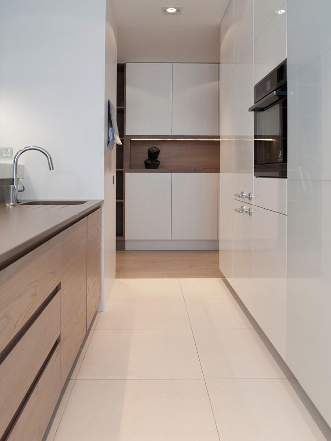 bia�a kuchnia na wysoki po�ysk architektura wnętrza