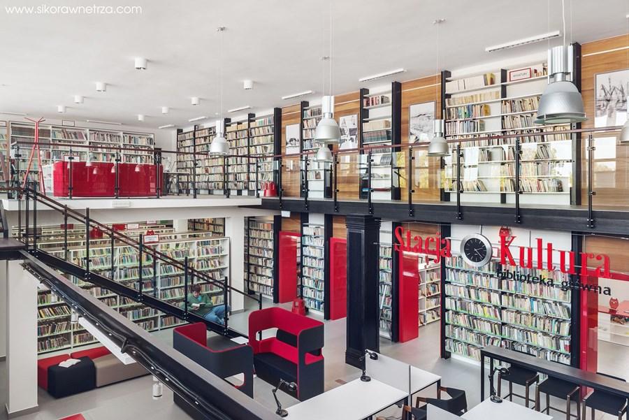 Biblioteka Rumia - Stacja Kultura Sikora Wnętrza