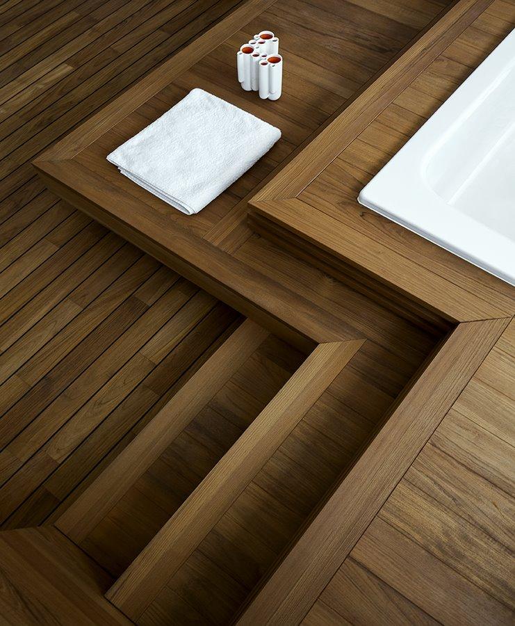 Impregnowane drewno w łazience