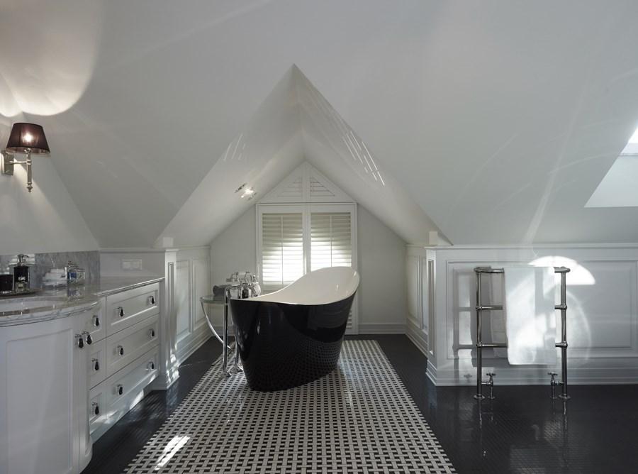 Duża łazienka w stylu modern classic wystrój wnętrz