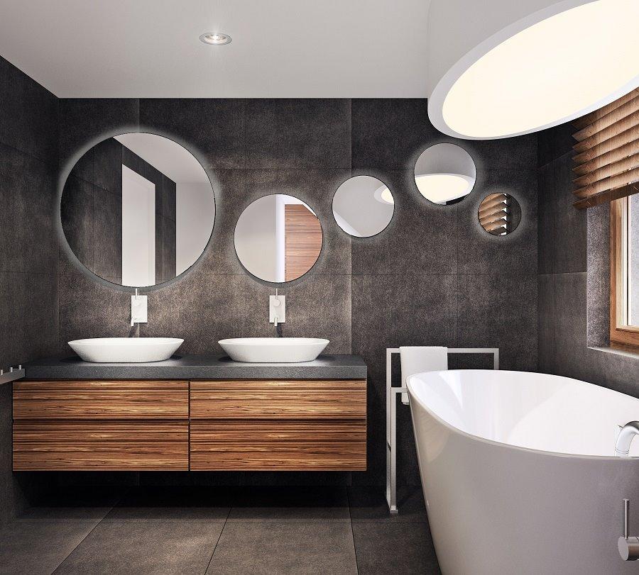 Duża łazienka w wolnostojącą wanną pomysły