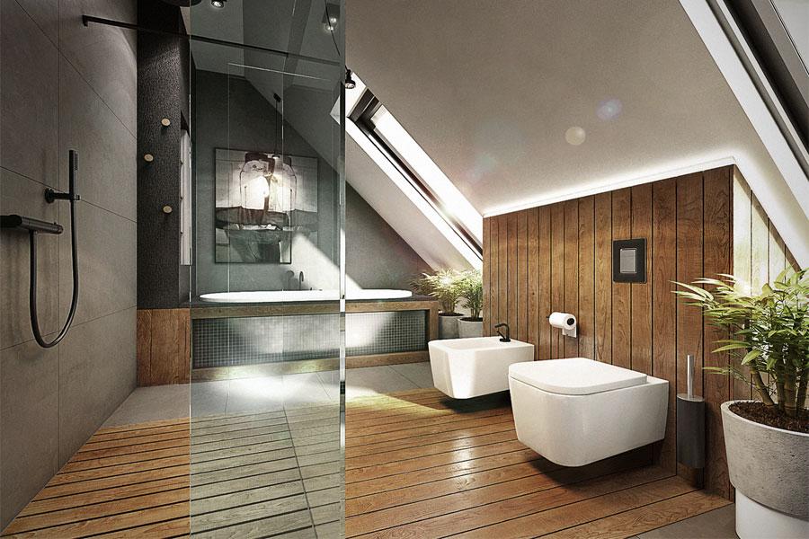 Duża łazienka na poddaszu jak urządzić