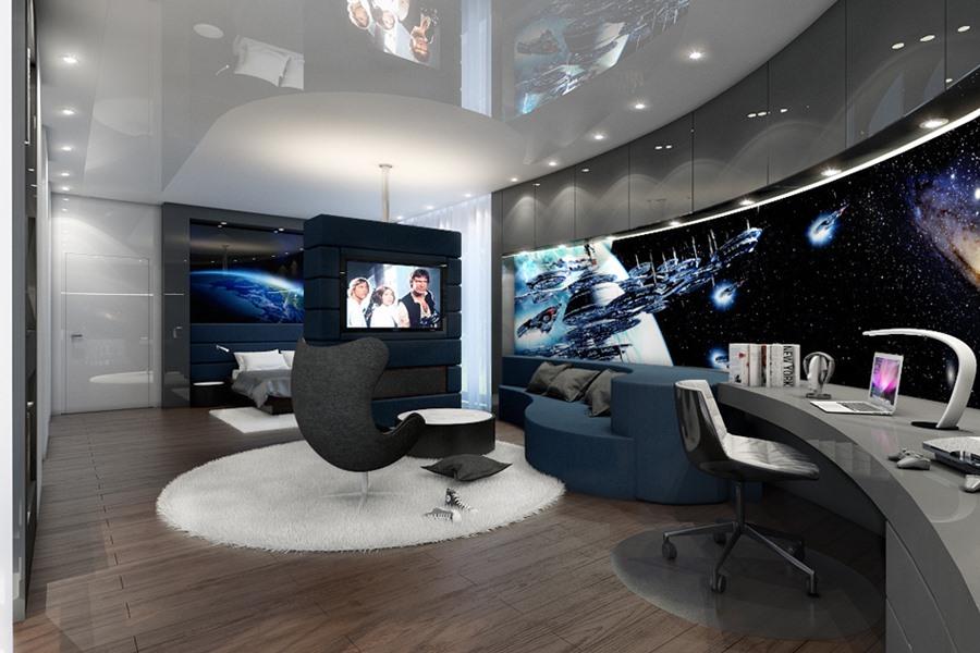 Ekskluzywny Pok J Dla Nastolatka Architektura Wn Trza Technologia Design Homesquare